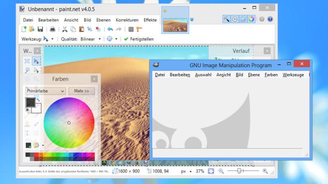 GIMP, Paint.NET: Sich im besten Licht präsentieren ©COMPUTER BILD