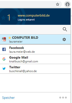 Screenshot 1 - Norton Password Manager für Chrome