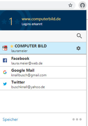 Norton Password Manager für Chrome