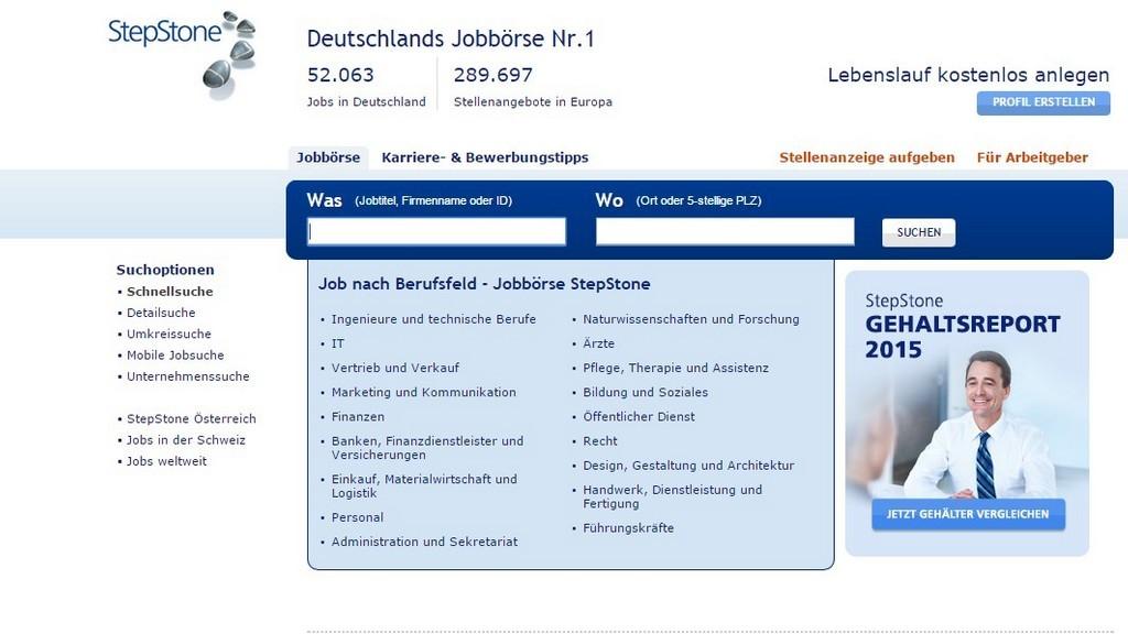 Die Zehn Besten Jobbörsen Bilder Screenshots Computer Bild