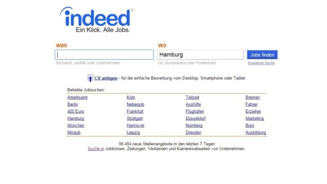 Indeed Webseite ©Indeed / COMPUTER BILD