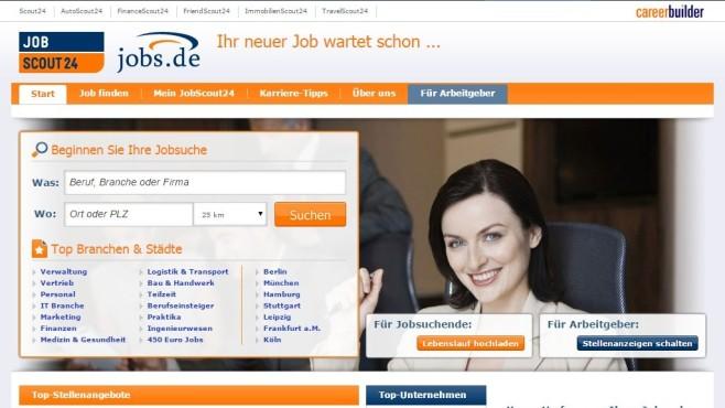 Startseite Jobscout24 ©Jobscout24 / COMPUTER BILD