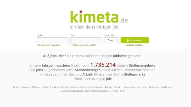 Startseite von Kimeta ©Kimeta / COMPUTER BILD