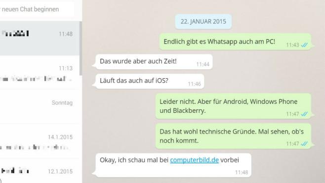 WhatsApp: So klappt die Nutzung auf PC und Notebook ©COMPUTER BILD