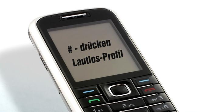 """""""Lautlos""""-Profil aktivieren ©glo5 - Fotolia.com"""