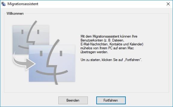 Screenshot 1 - Windows Migration Assistant