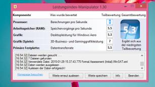 Windows 7 und 8: Leistungsindex manipulieren©COMPUTER BILD