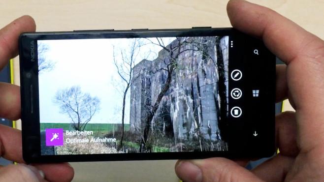 Praxistest: Was bringt die neue Lumia-Camera-App? Die neue  gibt es zuerst für das Lumia 830, 930 (hier im Bild) und Lumia 1520.©COMPUTER BILD