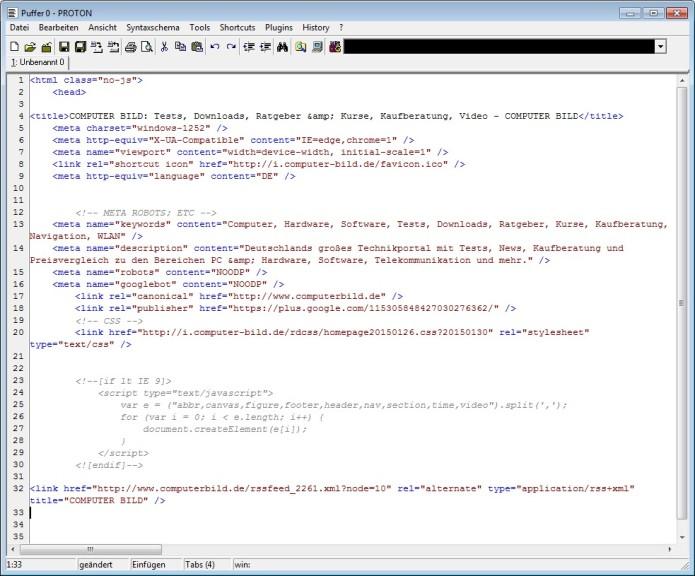 Screenshot 1 - Proton