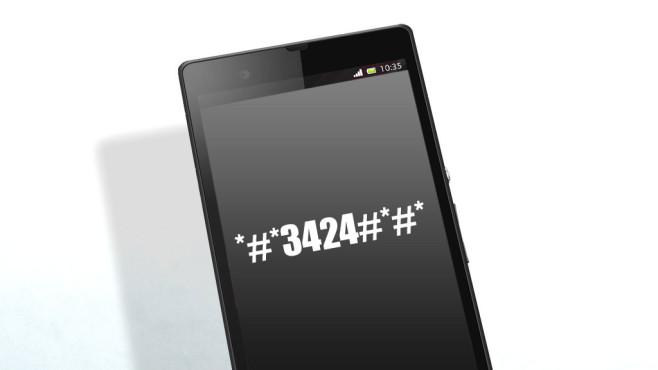 HTC Test Menü ©Sony