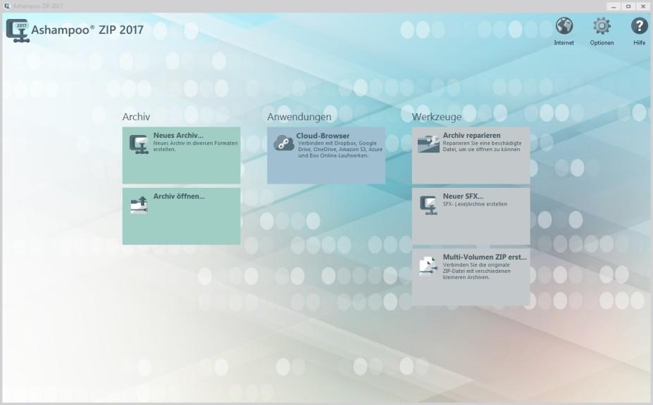 Screenshot 1 - Ashampoo ZIP 2017 – Kostenlose Vollversion
