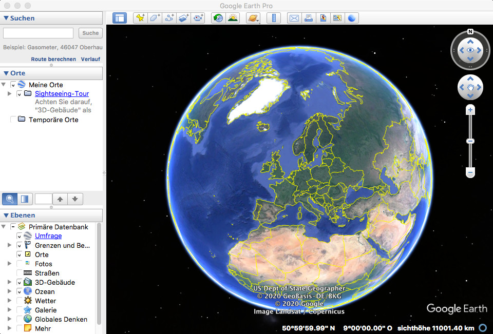 Screenshot 1 - Google Earth Pro – Kostenlose Vollversion (Mac)