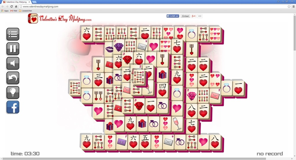 Screenshot 1 - Mahjong zum Valentinstag