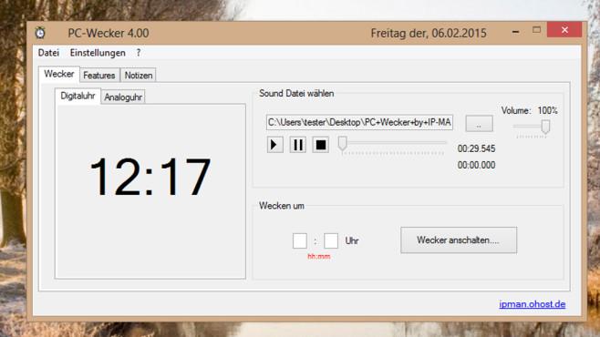 PC-Wecker: Rechtzeitig aufstehen ©COMPUTER BILD