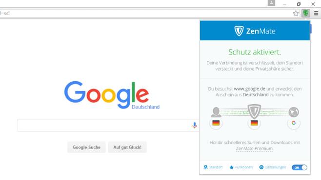 ZenMate: Spionageschutz für den Browser ©COMPUTER BILD