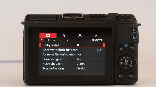 Canon EOS M3 Klappdisplay©COMPUTER BILD
