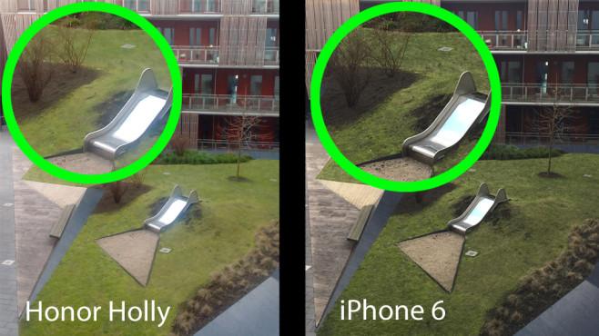 Honor Holly: Einsteiger-Smartphone mit 8-Megapixel-Kamera im ersten Eindruck Honor Holly vs iPhone 6: Vergleich der Fotoqualität.©COMPUTER BILD