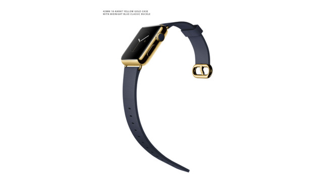 Apple Watch Edition: Klassisches Lederarmband/Midnight Blue © Apple