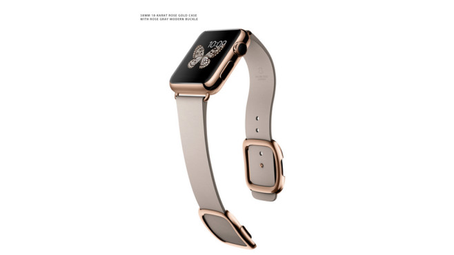 Apple Watch Edition: Modernes Lederarmband/Rose Gray © Apple