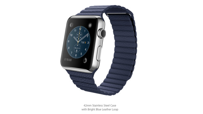 Apple Watch: Loop-Lederarmband/Bright Blue © Apple