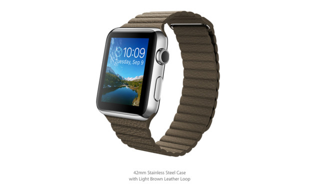 Apple Watch: Loop-Lederarmband/Light Brown © Apple