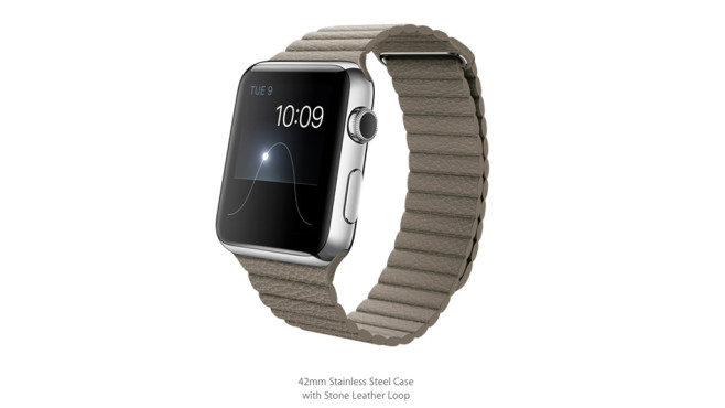 Apple Watch: Loop-Lederarmband/Stone © Apple
