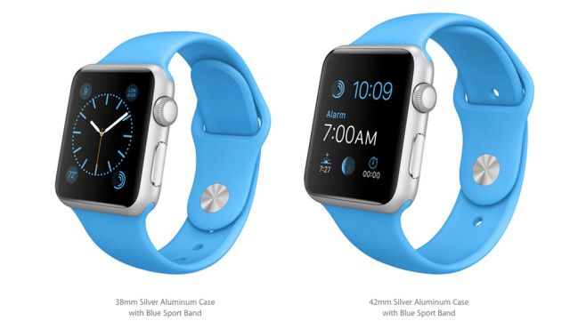 Apple Watch Sport: Silver/Blue © Apple