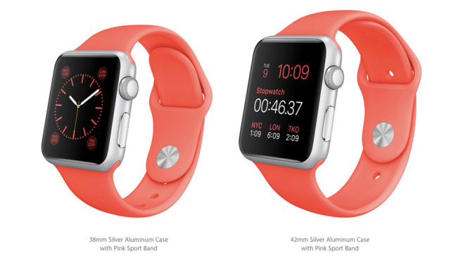Apple Watch Sport: Silver/Pink © Apple