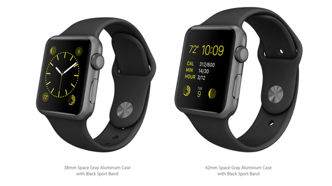 Apple Watch Sport: Space Gray/Black © Apple