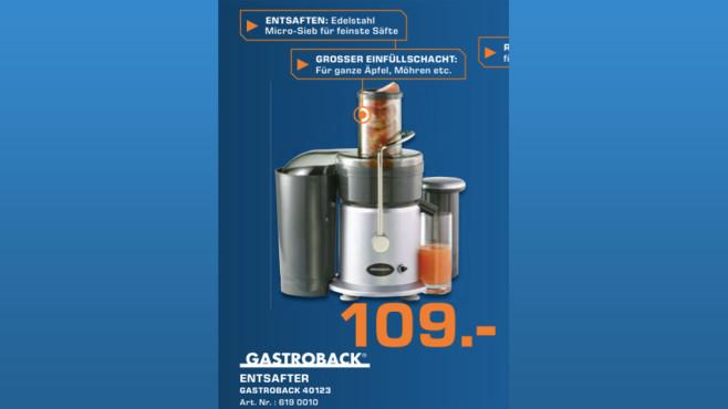 Gastroback Design Juicer ©Saturn