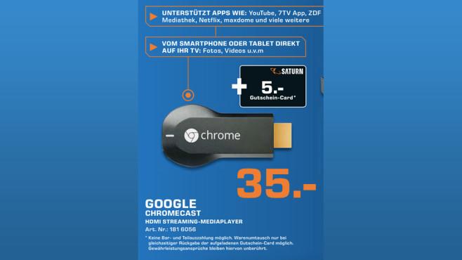 Google Chromecast ©Saturn