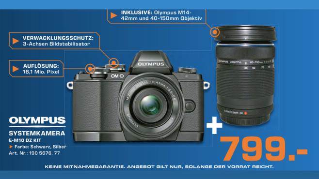 Olympus OM-D E-M10 Kit 14-42 mm EZ + 40-150 mm ©Saturn