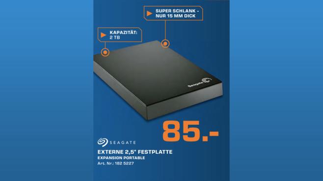 Seagate Expansion Portable USB 3.0 2TB (STBX2000401) ©Saturn