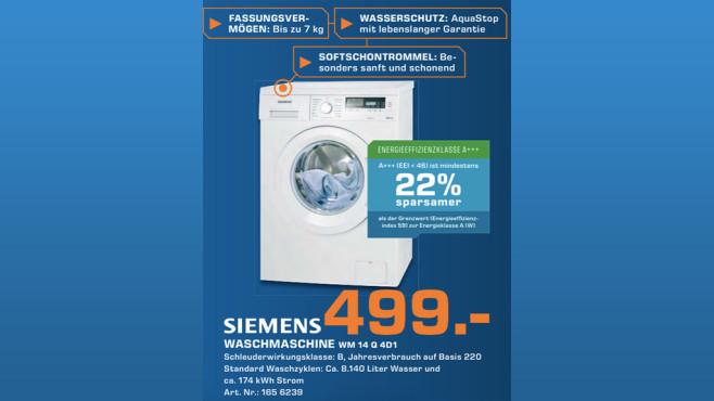 Siemens WM14Q4D1 ©Saturn