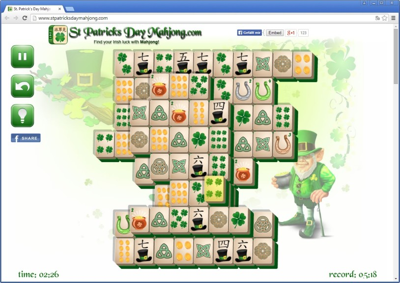 Screenshot 1 - Mahjong zum St. Patricks Day