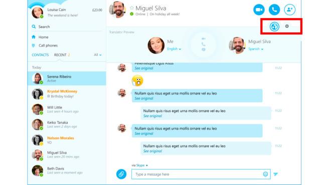Skype Translator©Microsoft