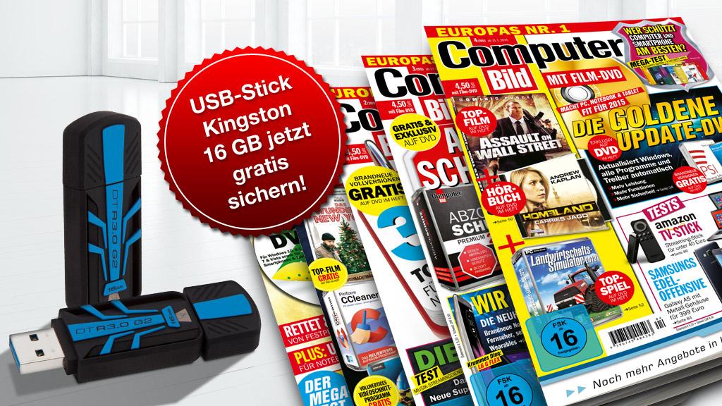 data traveler r3 0 g2 16 gb gratis sichern computer bild. Black Bedroom Furniture Sets. Home Design Ideas