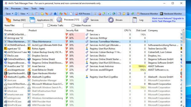 Alternative: AnVir Task Manager Free ©COMPUTER BILD