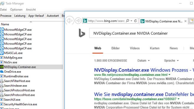 Bing-Suche nach unbekannten Prozessen ©COMPUTER BILD