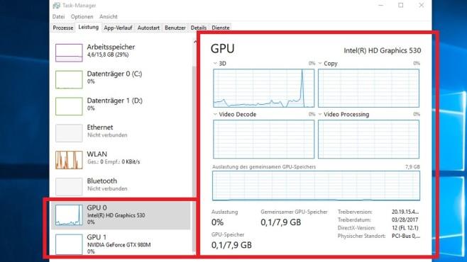 Windows 10 1709: Spendiert Grafikkarten-Analyse (1) ©COMPUTER BILD