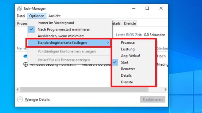 Windows 10 1903: Standard-Registerkarte festlegen ©COMPUTER BILD
