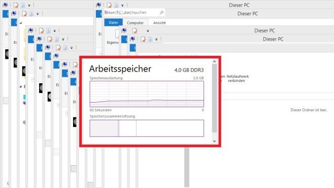 Windows 8/10: Kompakte Anzeige ©COMPUTER BILD