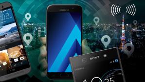 Smartphone-Empfang im Test©Samsung, HTC, Sony, ©istock.com/chombosan