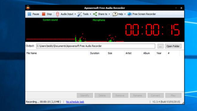 Apowersoft: Free Audio Recorder ©COMPUTER BILD
