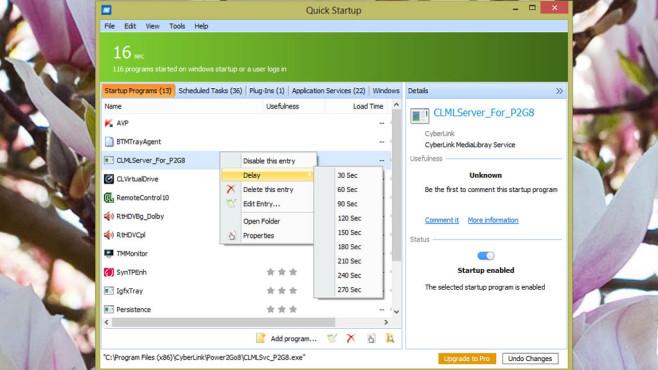 Glarysoft: Glary Quick Startup ©COMPUTER BILD