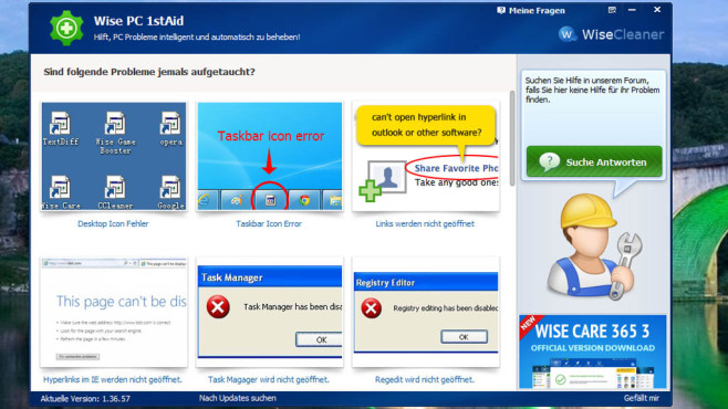WiseCleaner.com: Wise PC 1stAid ©COMPUTER BILD
