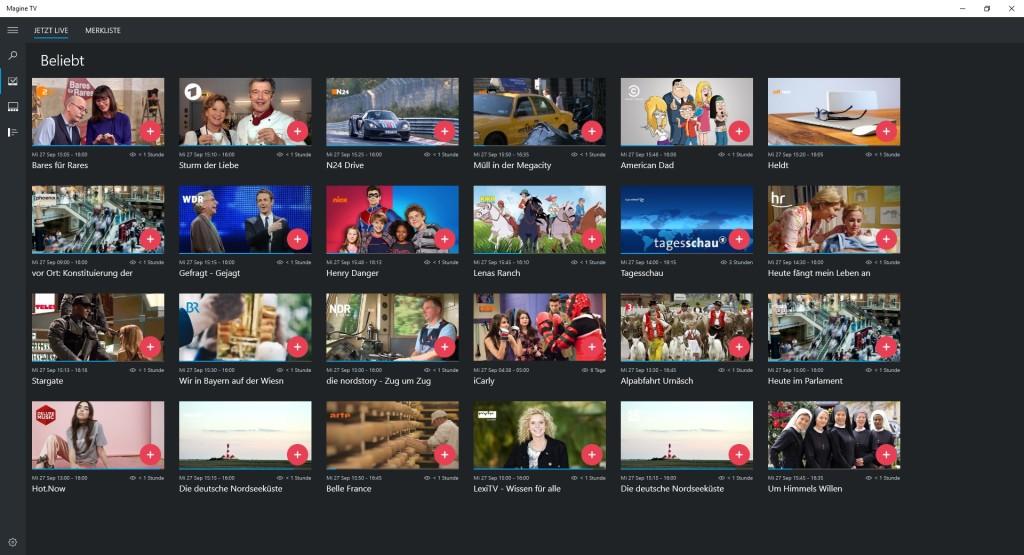 Screenshot 1 - Magine TV (Windows-10-App)