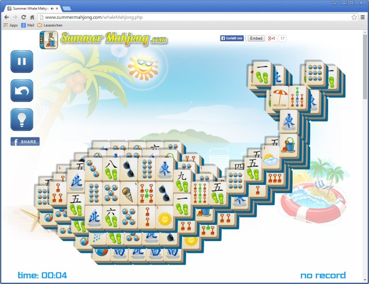 Screenshot 1 - Sommer-Mahjong
