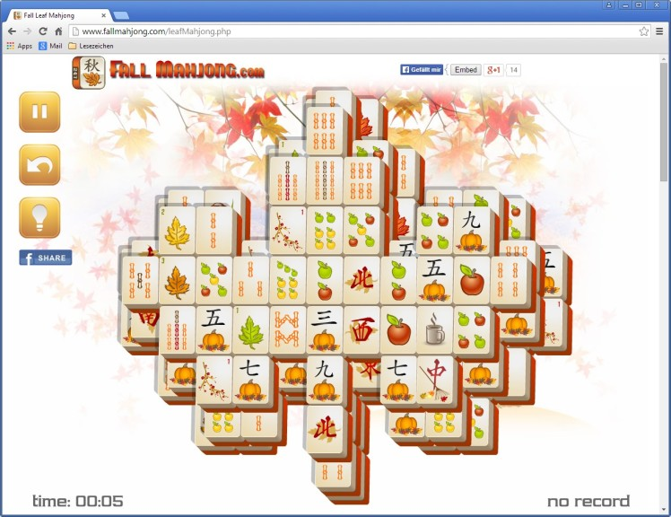 Screenshot 1 - Herbst-Mahjong