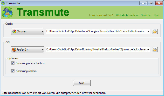 Screenshot 1 - Transmute Portable